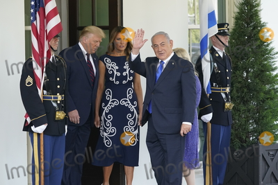 Benjamin Netanyahu Photo - United States President Donald J Trump and first lady Melania Trump welcomes Prime Minister Benjamin Netanyahu of Israel and his wife Sara to the White House in Washington DC on Tuesday September 15 2020  Netanyahu is in Washington to sign the Abraham Accords a peace treaty with the United Arab Emirates and BahrainCredit Chris Kleponis  Pool via CNPAdMedia
