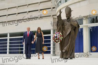 John Paul Photo - United States President Donald Trump and First lady Melania Trump visit Saint John Paul II National Shrine in Washington DC on Tuesday June 2 2020Credit Chris Kleponis  Pool via CNPAdMedia