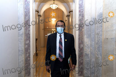 Al Green Photo - United States Representative Al Green (Democrat of Texas) wears a protective mask while walking through the US Capitol in Washington DC US on Saturday Feb 13 2021 Donald Trumps second impeachment trial ended in a not guilty verdict on a vote of 57-43 short of the two-thirds majority required Credit Stefani Reynolds - Pool via CNPAdMedia