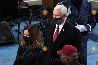 Mike Pence Photo - WASHINGTON DC - JANUARY 20 Vice President Mike Pence and  Keren Pence arrive at the inauguration of US President-elect Joe Biden on the West Front of the US Capitol on January 20 2021 in Washington DC  During todays inauguration ceremony Joe Biden becomes the 46th president of the United States (Photo by Tasos KatopodisGetty Images)AdMedia