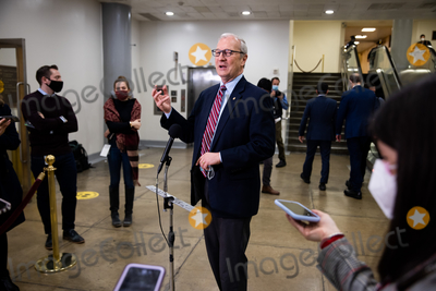 Donald Trump Photo - Senator Kevin Cramer R-ND speaks to the press on Capitol Hill in Washington Saturday Feb 13 2021 before the fifth day of the second impeachment trial of former President Donald TrumpCredit Graeme Jennings - Pool via CNPAdMedia