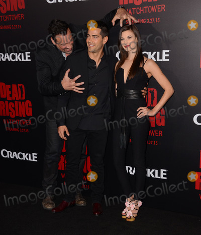 Aleks Paunovic Photo - 11 March 2015 - Los Angeles California - Aleks Paunovic Jesse Metcalfe Meghan Ory  Arrivals for Crackles world premiere original feature film Dead Rising Watchtower held at the Kim Novak Theater at Sony Pictures Studios Photo Credit Birdie ThompsonAdMedia