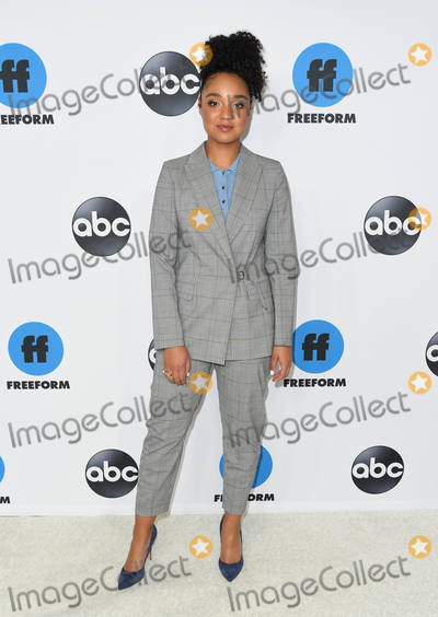 Aisha Dee Photo - 05 February 2019 - Pasadena California - Aisha Dee Disney ABC Television TCA Winter Press Tour 2019 held at The Langham Huntington Hotel Photo Credit Birdie ThompsonAdMedia
