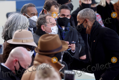 Barack Obama Photo - Former US President Barack Obama greets representative Adam Shiff (D-CA) during the inauguration of Joe Biden as the 46th President of the United States on the West Front of the US Capitol in Washington US January 20 2021 REUTERSJonathan ErnstPoolAdMedia
