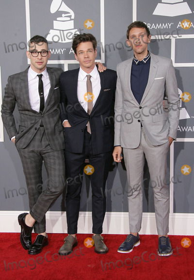 Andrew Dost Photo - 10 February 2013 - Los Angeles California - Jack Antonoff Nate Ruess Andrew Dost Fun The 55th Annual GRAMMY Awards held at STAPLES Center Photo Credit AdMedia
