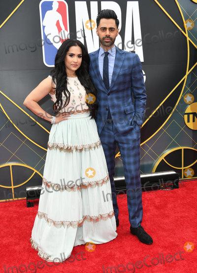 Hasan Minhaj Photo - 24 June 2019 - Santa Monica California - Beena Patel Hasan Minhaj 2019 NBA Awards held at the Barker Hangar Photo Credit Birdie ThompsonAdMedia