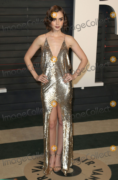 Wallis Annenberg Photo - 28 February 2016 - Beverly Hills California - Lily Collins 2016 Vanity Fair Oscar Party hosted by Graydon Carter following the 88th Academy Awards held at the Wallis Annenberg Center for the Performing Arts Photo Credit Byron PurvisAdMedia