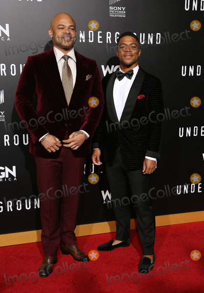 Aldis Hodge Photo - 28 February 2017 - Westwood California - Anthony Hemingway Aldis Hodge WGN Americas Underground Season 2 Premiereheld at Westwood Village Photo Credit AdMedia