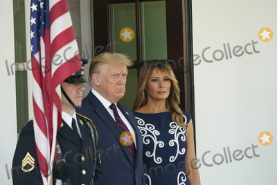 Benjamin Netanyahu Photo - United States President Donald J Trump and First lady Melania Trump await the arrival of Prime Minister Benjamin Netanyahu and his wife Sara of Israel to the White House in Washington DC on Tuesday September 15 2020 Credit Chris Kleponis  Pool via CNPAdMedia