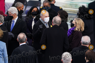 The Ceremonies Photo - NYTINAUG - Senator Chuck Schumer before the ceremony The inauguration ceremony for President Joe Biden and Vice President Kamala Harris on the west front of the US Capitol in Washington on January 20 2021 NYTCREDIT Erin SchaffThe New York TimesAdMedia