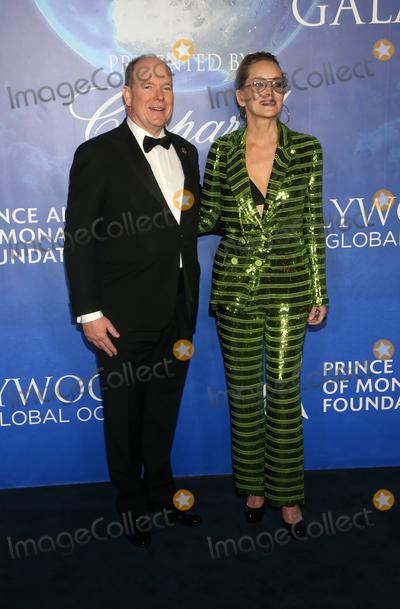Prince Albert II of Monaco Photo - 6 February 2020 - Beverly Hills California - His Serene Highness Prince Albert IIof Monaco Sharon Stone 2020 Hollywood for the Global Ocean Gala held at Palazzo di Amore Photo Credit FSAdMedia