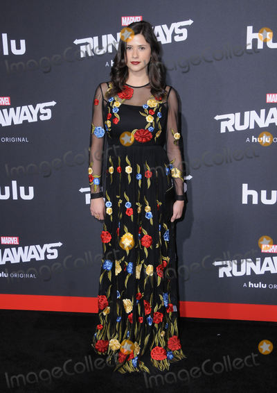 Amber Coney Photo - 16 November  2017 - Westwood California - Amber Coney Premiere Of Hulus Marvels Runaways held at Regency Village Theater in Westwood Photo Credit Birdie ThompsonAdMedia