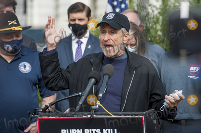 Jon Stewart Photo - Comedian Jon Stewart offers remarks during a press conference regarding legislation to assist veterans exposed to burn pits outside the US Capitol in Washington DC Tuesday September 15 2020 Credit Rod Lamkey  CNPAdMedia