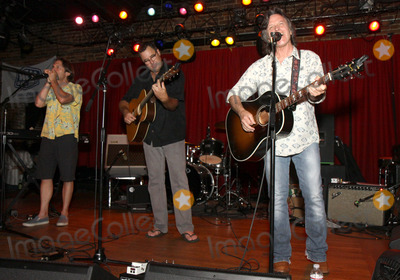 Jeff Hanna Photo - July 26 2011 - Nashville TN - Jim HOke Vince Gill and Jeff Hanna Artists musicians and songwriters came together at Mercy Lounge to help raise funds for Pete Huttlinger a widely respected guitarist and Nashville studio artist  Huttlinger has a congenital heart disease and is in need of a heart transplant Photo credit Dan HarrAdmedia