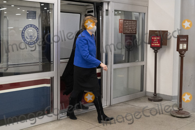 Jeanne Shaheen Photo - United States Senator Jeanne Shaheen (Democrat of New Hampshire) arrives at the Capitol in Washington DC February 12 2021 Credit Chris Kleponis - Pool via CNPAdMedia