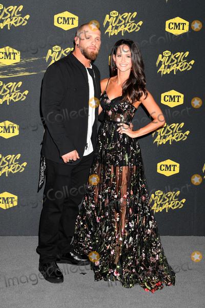 Amber Cochran Photo - 06 June 2018 - Nashville Tennessee -  Brantley Gilbert Amber Cochran 2018 CMT Music Awards held at Bridgestone Arena Photo Credit Laura FarrAdMedia