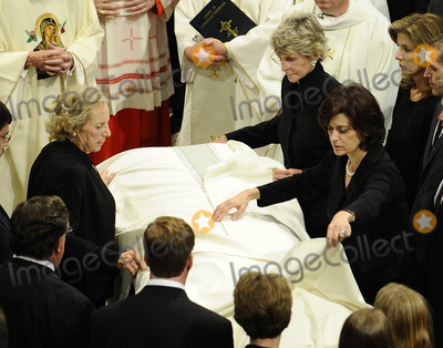 Jean Kennedy-Smith Photo - Boston MA - August 29 2009 -- US Senator Edward Kennedys wife Victoria Kennedy (R) along with Jean Kennedy Smith (Top R) and  Ethel Kennedy (L) helps cover the casket as it enters Our Lady of Perpetual Help Catholic Church in Boston Massachusetts USA for the funeral Mass for Kennedy 29 August 2009 Senator Edward Kennedy 77 died 25 August 2009 after a battle with brain cancerCredit CJ  Gunther - Pool via CNPAdMedia
