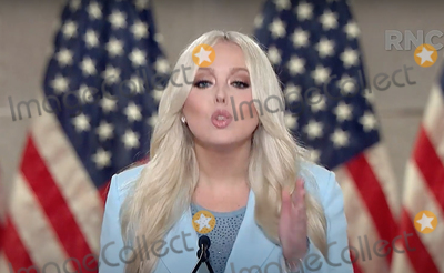 Tiffany Photo - In this image from the Republican National Convention video feed Tiffany Trump makes remarks during the second day of the convention  on Tuesday August 25 2020Credit Republican National Convention via CNPAdMedia