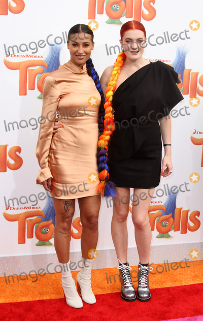 Caroline Hjelt Photo - 23 October 2016 - Los Angeles California - Aino Jawo and Caroline Hjelt of Icona Pop Trolls Los Angeles Premiere held at the Regency Village Theatre in Los Angeles Photo Credit AdMedia