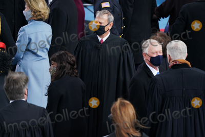 The Ceremonies Photo - Chief Justice John Roberts before the ceremony  Joe Biden is sworn in as the 46th President of the United States on Capitol Hill in Washington DC on January 20 2020 (Erin SchaffThe New York Times NYTINAUGNYTCREDIT Erin SchaffThe New York TimesAdMedia