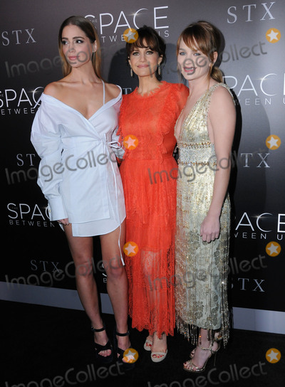Carla Gugino Photo - 17 January 2017 - Hollywood California - Janet Montgomery Carla Gugino Britt Robertson 2017 The Space Between Us special Los Angeles screening held at Arclight Hollywood Photo Credit Birdie ThompsonAdMedia