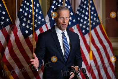 Supremes Photo - Senator John Thune R-SD speaks during a press conference after President Trumps Supreme Court nominee Judge Amy Coney Barrett was confirmed by the Senate as the 115th justice to the Supreme Court on Capitol Hill Monday October 26th 2020AdMedia