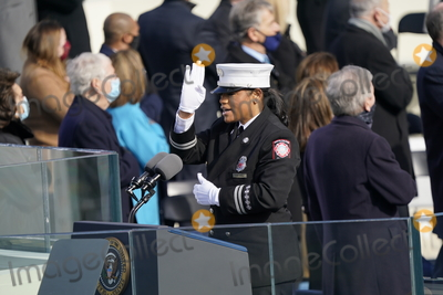 Andrea Hall Photo - Andrea Hall leads the Pledge of Allegiance prior to United States President Joe Biden taking the Oath of Office as the 46th President of the US at the US Capitol in Washington DC on Wednesday January 20 2021  Credit Chris Kleponis  CNP