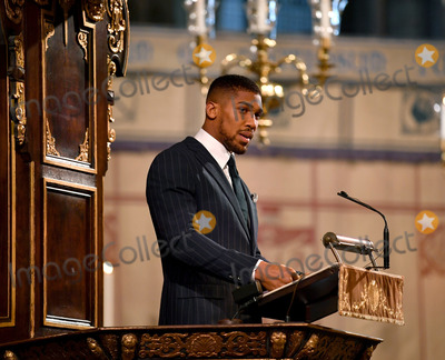 Anthony Joshua Photo - 09032020 - Anthony Joshua Commonwealth Day 2020 Service at Westminster Abbey in London Photo Credit ALPRAdMedia