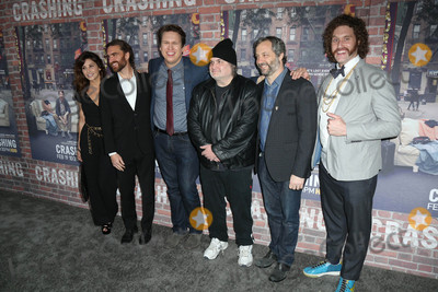 Artie Lange Photo - Gina Gershon George Basil Pete Holmes Artie Lange Judd Apatoat the Crashing Los Angeles Premiere Avalon Hollywood CA 02-15-17