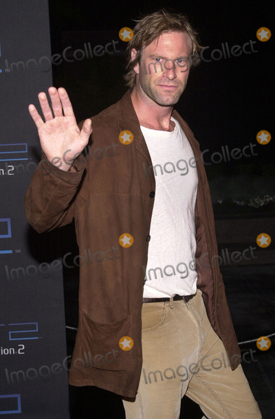 Aaron Eckhart Photo -  Aaron Eckhart at the Sony Playstation 2 Anniversary Party St Regis Hotel Century City 10-18-01