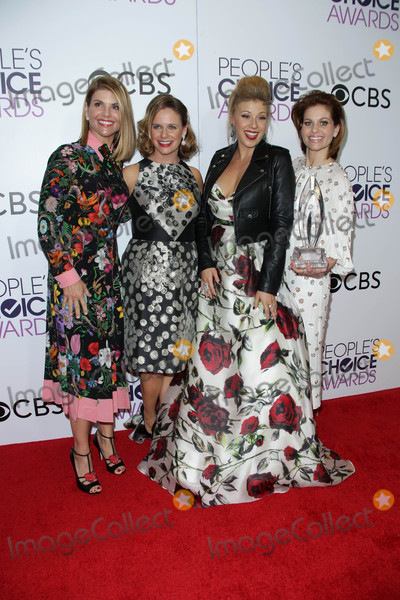 Andrea Barber Photo - Lori Loughlin Andrea Barber Jodie Sweetin Candace Cameron-Bureat the 42nd Annual Peoples Choice Awards Press Room Microsoft Theater Los Angeles CA 01-18-17