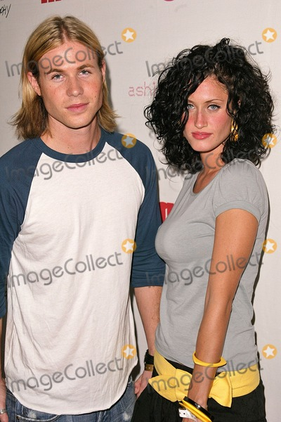 Ashley Parker Photo - Ashley Parker Angel and his date at Mean Magazine Hosted CD Release Party celebrating debut CD by Ashlee Simpson at Concorde Hollywood CA 07-23-04