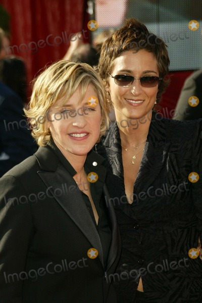 Alexandra Hedison Photo - Ellen Degeneres and Alexandra Hedison at the 55th Annual Emmy Awards Arrivals Shrine Auditorium Los Angeles CA 09-21-03