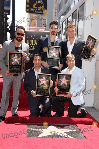 AJ MCLEAN Photo - AJ McLean Howie Dorough Kevin Richardson Brian Littrell Nick Carterat the Backstreet Boys Star on the Walk of Fame Hollywood CA 04-22-13