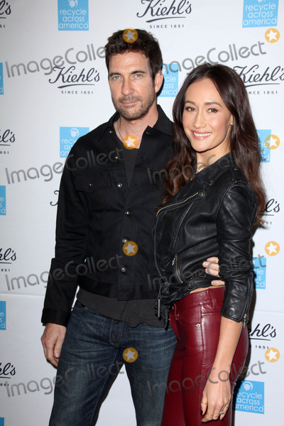 Avocado Photo - Dylan McDermott Maggie Qat Kiehls Earth Day Creamy Eye Treatment with Avocado Kiehls Santa Monica CA 04-15-15