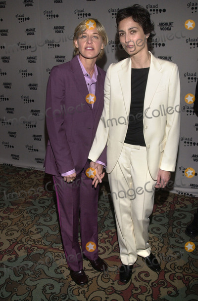 Alexandra Hedison Photo -  Ellen DeGeneres and Alexandra Hedison at the 12th Annual GLAAD Media Awards Century Plaza Hotel 04-28-01