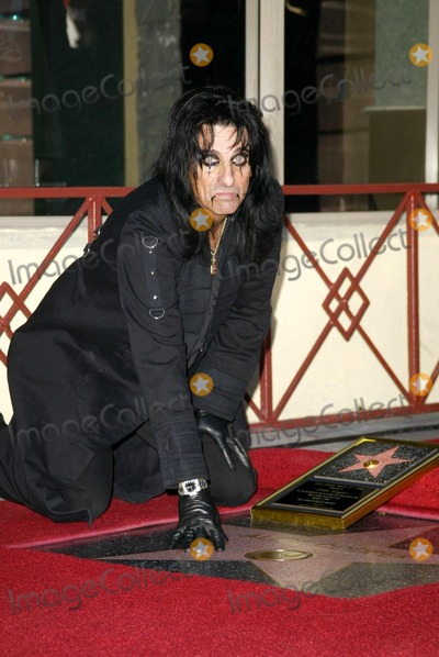 Alice Cooper Photo - Alice Cooper at Coopers induction into the Hollywood Walk of Fame Hollywood CA 12-02-03