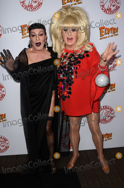 Joey Arias Photo - Lady Bunny Joey Ariasat the Elvira Mistress Of The Dark Coffin Table Book Launch Roosevelt Hotel Hollywood CA 10-18-16