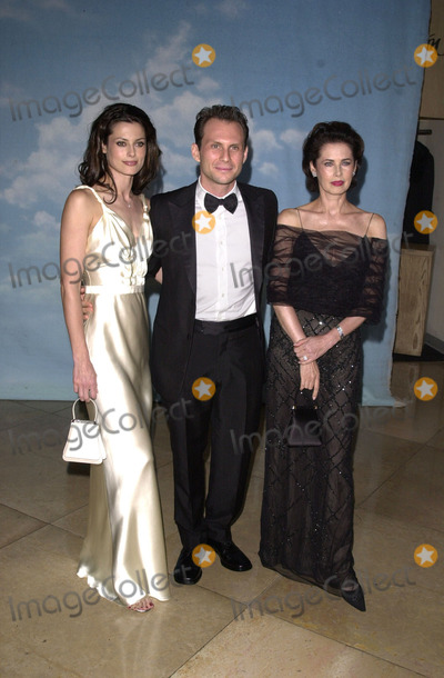 Ryan Haddon Photo -  Christian Slater with wife Ryan Haddon and  mother at the Carousel Of Hope charity gala benefitting the Barbara Davis Center for Childhood Diabetes Beverly Hills 10-28-00