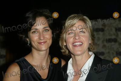 Alexandra Hedison Photo - Ellen Degeneres and girlfiend Alexandra Hedison at the HBO Post-Emmy party Spago Beverly Hills CA 09-22-02