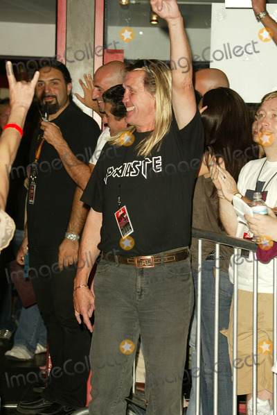 Iron Maiden Photo - Nicko McBrain at the ceremony honoring Iron Maiden with induction in to the Hollywood Rockwalk Rockwalk HollywoodCA 08-19-05