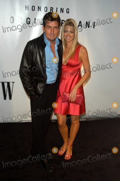 Charlie Sheen Photo - Charlie Sheen and Denise Richards at the Rodeo Drive Walk of Style honoring Armani Rodeo Drive Beverly Hills CA 09-09-03
