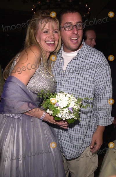 Adam Sandler Photo -  Joan Child and Adam Sandler at the premiere of My 5 Wives in Santa Monica 08-28-00