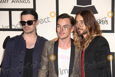 Tomo Milicevic Photo - Tomo Milicevic Shannon Leto Jared Letoat the 56th Annual Grammy Awards Staples Center Los Angeles CA 01-26-14