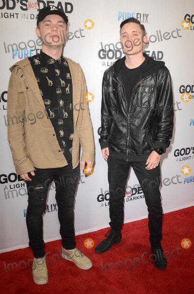 Gaspar No Photo - Spencer Hendricks Tre Wrightat the Gods Not Dead A Light In Darkness Premiere Egyptian Theater Hollywood CA 03-20-18