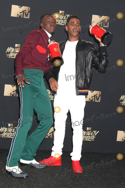 Ashton Sanders Photo - LOS ANGELES - MAY 7  Ashton Sanders Jharrel Jerome at the MTV Movie and Television Awards on the Shrine Auditorium on May 7 2017 in Los Angeles CA