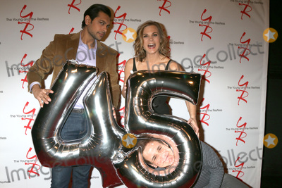 Abhi Sinha Photo - LOS ANGELES - MAR 26  Abhi Sinha Gina Tognoni Christian LeBlanc at the The Young and The Restless Celebrate 45th Anniversary at CBS Television City on March 26 2018 in Los Angeles CA