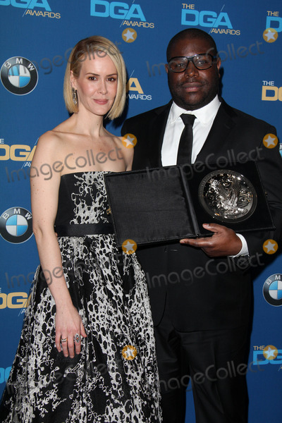 Steve Mc Queen Photo - LOS ANGELES - JAN 25  Sarah Paulson Steve McQueen at the 66th Annual Directors Guild of America Awards - Press Room at Century Plaza Hotel on January 25 2014 in Century City CA