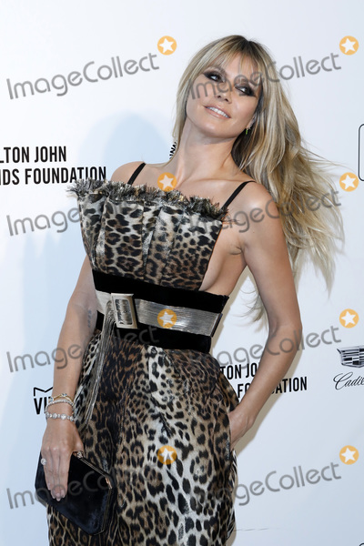 Heidi Klum Photo - LOS ANGELES - FEB 9  Heidi Klum at the 28th Elton John Aids Foundation Viewing Party at the West Hollywood Park on February 9 2020 in West Hollywood CA