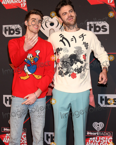 The Chainsmokers Photo - LOS ANGELES - MAR 5  The Chainsmokers Andrew Taggart Alex Pall at the 2017 iHeart Music Awards at Forum on March 5 2017 in Los Angeles CA